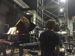 稽古ピアノと稽古ドラム